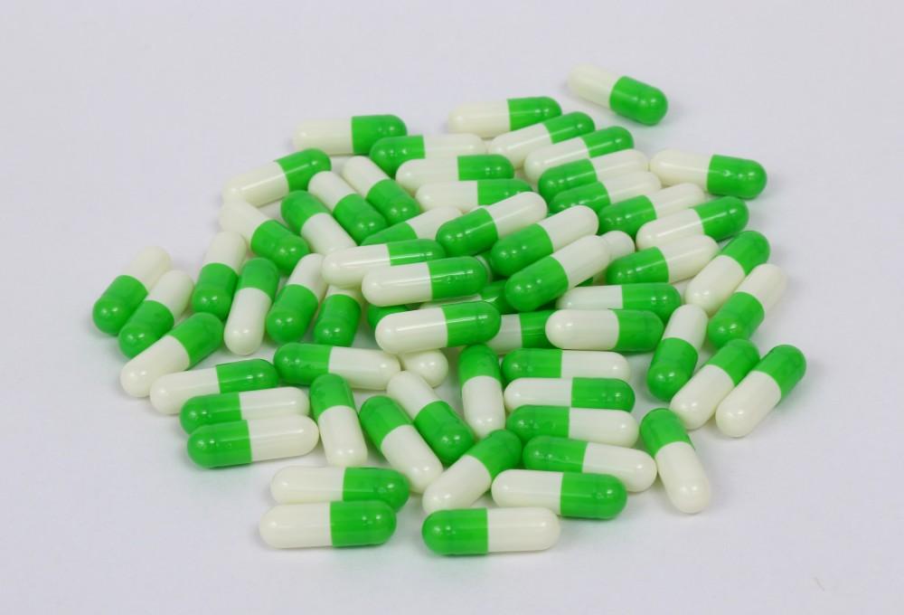 绿白明胶空心胶囊