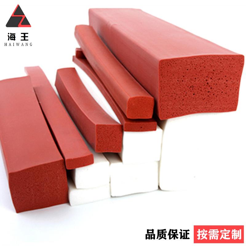 厂家直销硅像胶发泡海绵条防撞耐磨密封条耐高温硅胶发泡条可定制