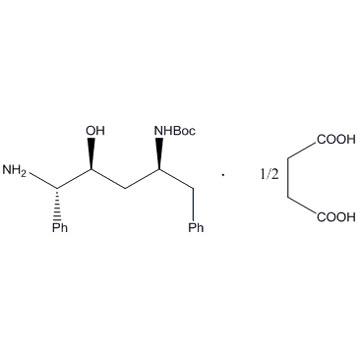 (2S,3S,5S)-2-amino-3-hydroxy-5-(tert-butyloxycarbonyl)amino-1,6-diphenyl hemi succinic acid salt (BD