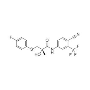 N-[4-氰基-3-(三氟甲基)苯基]-3-(4-氟苯巯基)-2-羟基-2-甲基丙酰胺