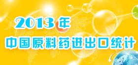 [轻数据]2013年中国原料药进出口统计