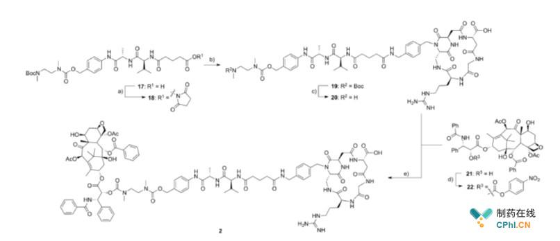 isoDGR-药物偶联药物2的合成