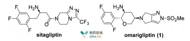 捷诺维(sitagliptin)及奥格列汀(Omarigliptin)结构式