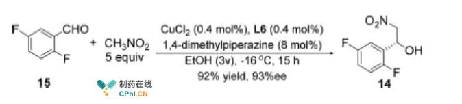中间体14的合成