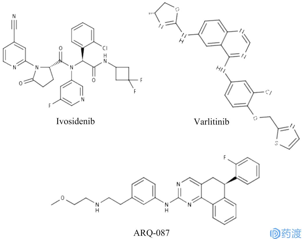 图2.处于临床三期化合物的结构式