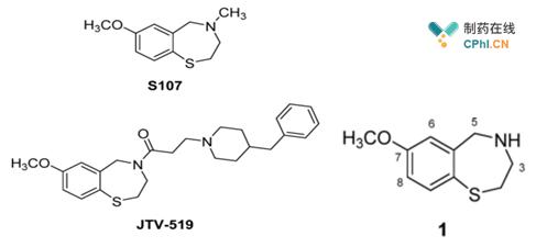 具有7甲氧基-2,3,4,5-四氢苯并硫氮杂卓母核的药物分子
