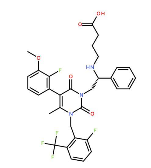 elagolix的分子结构式
