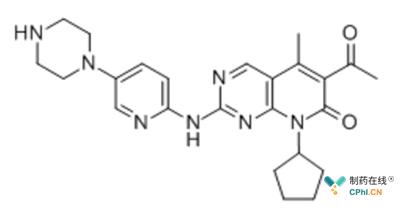 Palbociclib结构式