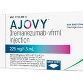 FDA批准第二款抗CGRP偏头痛新药Ajovy,第三款正在路上