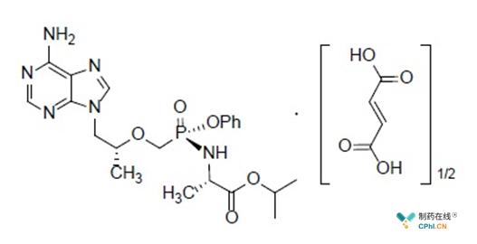 替诺福韦艾拉酚胺富马酸结构式