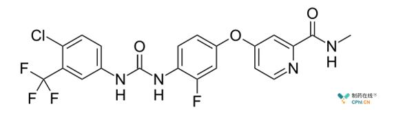 瑞格非尼分子结构式