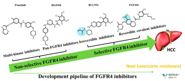 FGFR-4抑制剂研发管线