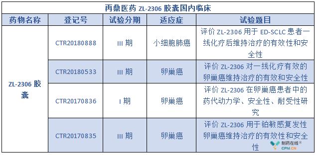 再鼎医药ZL-2306胶囊国内临床