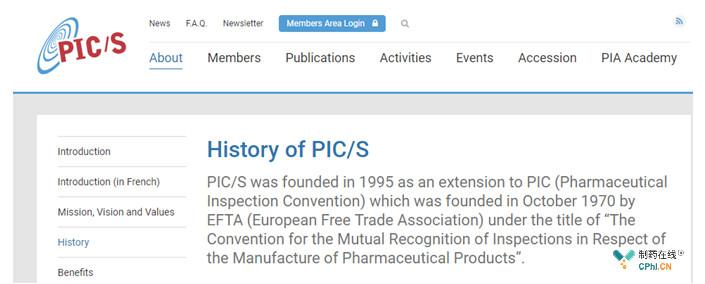 国际药品认证合作组织(PIC/S)前世今生