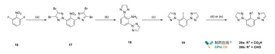 2,6位二三氮唑取代的苯甲酸20a、苯甲醛20b的合成