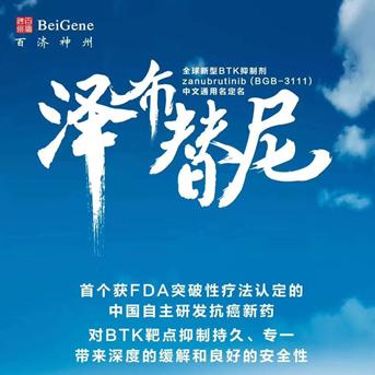 泽布替尼将成为中国首个向FDA递交上市申请的新分子实体