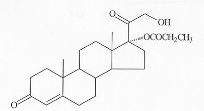 ▲Clascoterone的分子结构式(图片来源:Cassiopea官网)