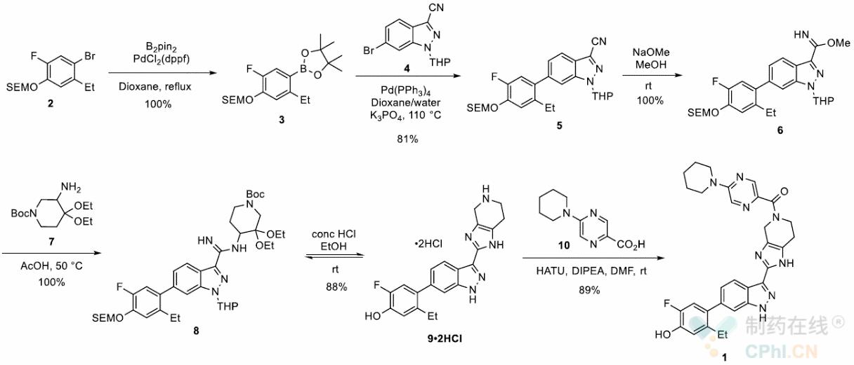PF-06263276药物化学合成工艺