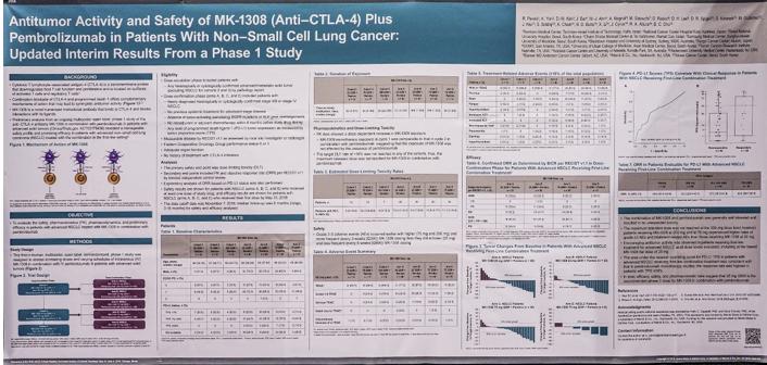 MK-1308 治疗NSCLC临床结果