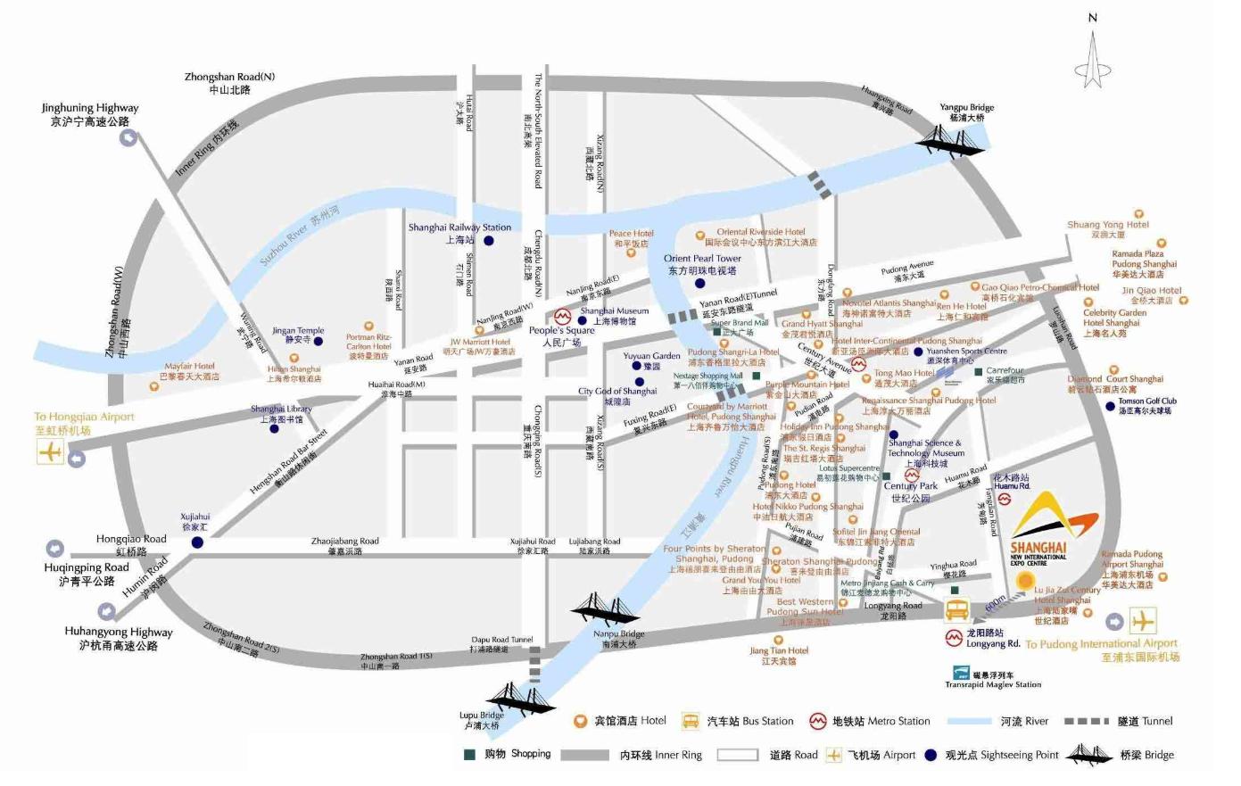 展馆周边交通图