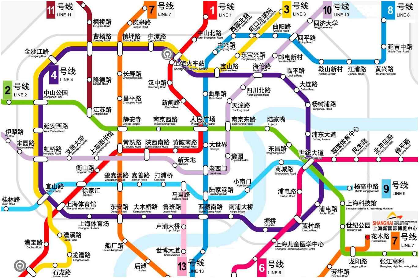 上海轨道交通线路图