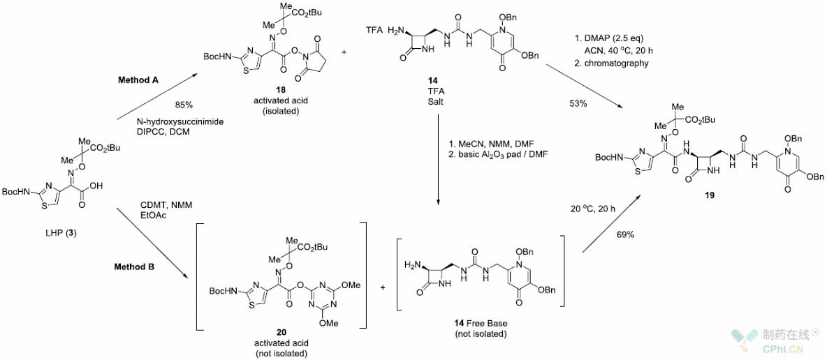 酰胺19的制备