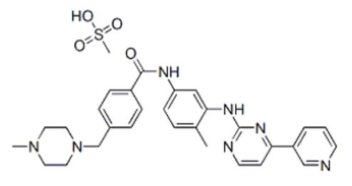 甲磺酸氟马替尼结构式
