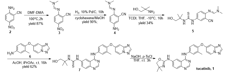 Tucatinib原研合成路线